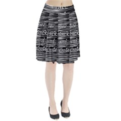 I love black and white Pleated Skirt