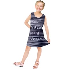 I love black and white Kids  Tunic Dress