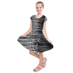 I love black and white Kids  Short Sleeve Dress