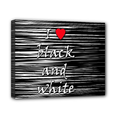 I love black and white 2 Canvas 10  x 8
