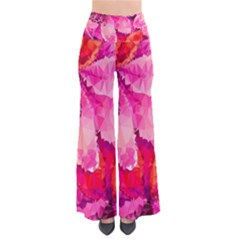Geometric Magenta Garden Women s Chic Palazzo Pants  by DanaeStudio