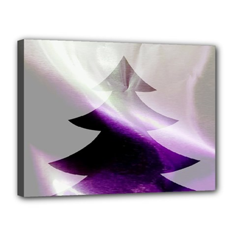 Purple Christmas Tree Canvas 16  X 12  by yoursparklingshop