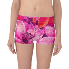 Geometric Magenta Garden Boyleg Bikini Bottoms by DanaeStudio