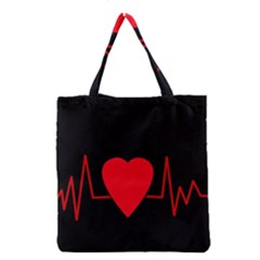 Hart bit Grocery Tote Bag