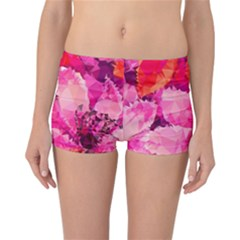 Geometric Magenta Garden Reversible Boyleg Bikini Bottoms by DanaeStudio