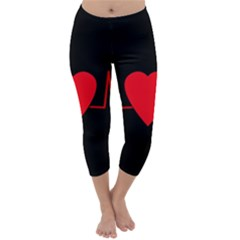Hart bit Capri Winter Leggings