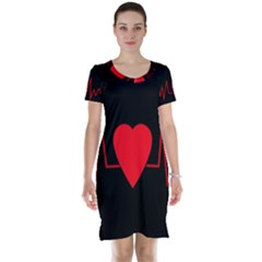 Hart bit Short Sleeve Nightdress