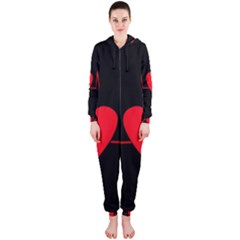 Hart bit Hooded Jumpsuit (Ladies)