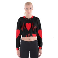 Hart bit Women s Cropped Sweatshirt