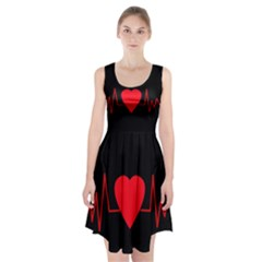Hart bit Racerback Midi Dress