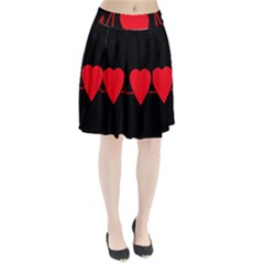 Hart bit Pleated Skirt