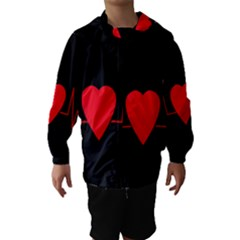 Hart Bit Hooded Wind Breaker (kids) by Valentinaart