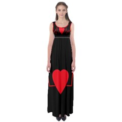 Hart Bit Empire Waist Maxi Dress by Valentinaart
