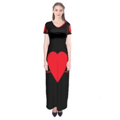 Hart Bit Short Sleeve Maxi Dress by Valentinaart