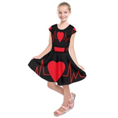Hart Bit Kids  Short Sleeve Dress by Valentinaart