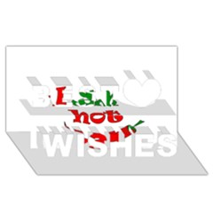 I am hot  Best Wish 3D Greeting Card (8x4)
