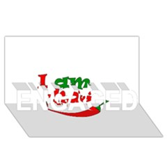 I Am Hot  Engaged 3d Greeting Card (8x4) by Valentinaart