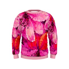 Geometric Magenta Garden Kids  Sweatshirt by DanaeStudio