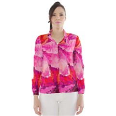 Geometric Magenta Garden Wind Breaker (women) by DanaeStudio