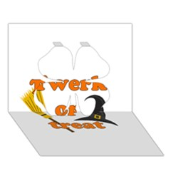 Twerk Or Treat   Funny Halloween Design Clover 3d Greeting Card (7x5) by Valentinaart