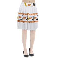 Twerk Or Treat   Funny Halloween Design Pleated Skirt by Valentinaart