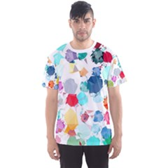 Colorful Diamonds Dream Men s Sport Mesh Tee