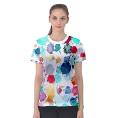 Colorful Diamonds Dream Women s Sport Mesh Tee