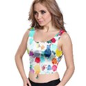 Colorful Diamonds Dream Crop Top View1