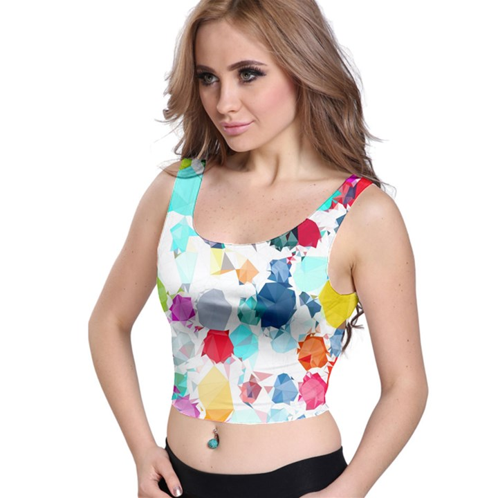 Colorful Diamonds Dream Crop Top