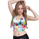 Colorful Diamonds Dream Crop Top View2