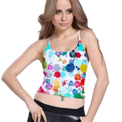 Colorful Diamonds Dream Spaghetti Strap Bra Top