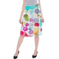 Colorful Diamonds Dream Midi Beach Skirt