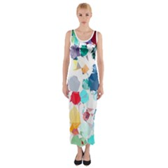 Colorful Diamonds Dream Fitted Maxi Dress