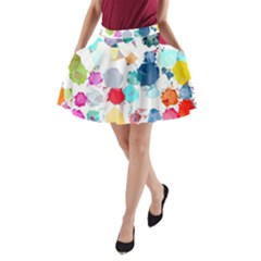 Colorful Diamonds Dream A-Line Pocket Skirt