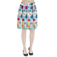 Colorful Diamonds Dream Pleated Skirt