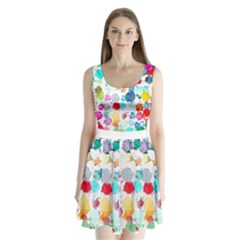 Colorful Diamonds Dream Split Back Mini Dress