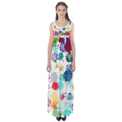 Colorful Diamonds Dream Empire Waist Maxi Dress