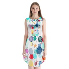 Colorful Diamonds Dream Sleeveless Chiffon Dress