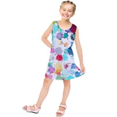 Colorful Diamonds Dream Kids  Tunic Dress