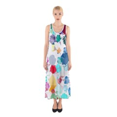 Colorful Diamonds Dream Sleeveless Maxi Dress