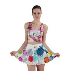 Colorful Diamonds Dream Mini Skirt