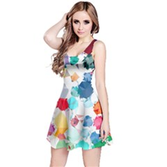 Colorful Diamonds Dream Reversible Sleeveless Dress