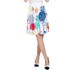 Colorful Diamonds Dream A-Line Skirt