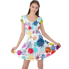 Colorful Diamonds Dream Cap Sleeve Dress