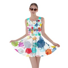 Colorful Diamonds Dream Skater Dress