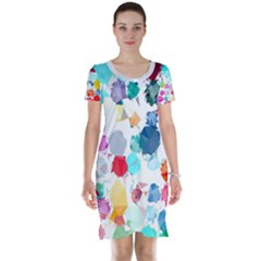 Colorful Diamonds Dream Short Sleeve Nightdress