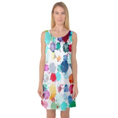 Colorful Diamonds Dream Sleeveless Satin Nightdress