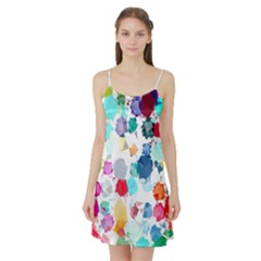 Colorful Diamonds Dream Satin Night Slip