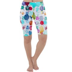 Colorful Diamonds Dream Cropped Leggings