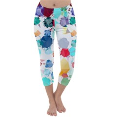 Colorful Diamonds Dream Capri Winter Leggings